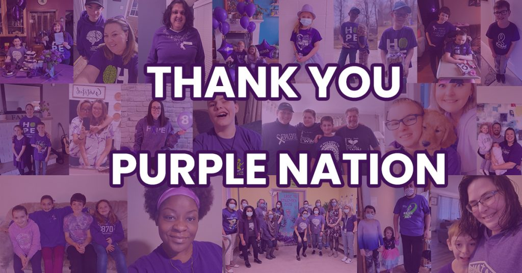 Epilepsy Awareness Month Thank You